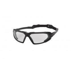 Lunettes de protection verres transparents et montures noires | Strike Systems