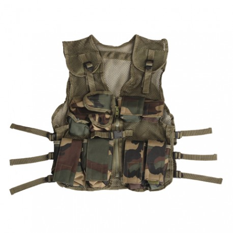 Gilet tactique enfant camouflage woodland | 101 Inc