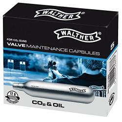 Capsule CO2 12g siliconé, par 5 Umarex