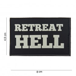 "Patch 3D PVC ""Retreat hell"" noir, 101 Inc"