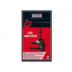 Holster de cuisse noir droitier | Swiss Arms