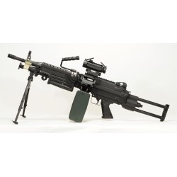 Réplique airsoft FN Minimi M249 Para, électrique non blow back, Cybergun