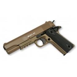 Réplique airsoft Colt 1911 dark earth, ressort - culasse métal | Cybergun