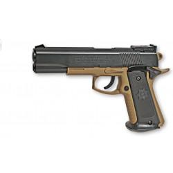 Réplique airsoft Colt MK IV tan et noir, ressort, Cybergun