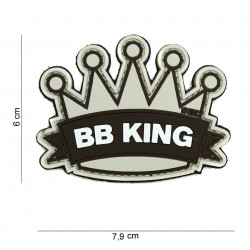 "Patch 3D PVC ""BB King"" beige avec velcro, 101 Inc"