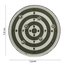 """Patch 3D PVC """"Target"""" vert avec velcro, 101 Inc"""