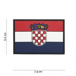 """Patch 3D PVC """"Croatie"""" avec velcro, 101 Inc"""
