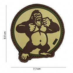 "Patch 3D PVC ""King Kong"" sable avec velcro, 101 Inc"
