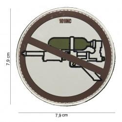 """Patch 3D PVC """"Super soaker"""" brun avec velcro, 101 Inc"""