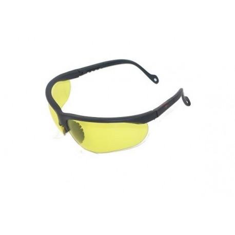 Lunettes de protection profun verres jaunes et montures noires | Dmoniac