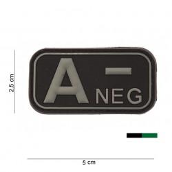 "Patch 3D PVC ""A -"" OD avec velcro, 101 Inc"