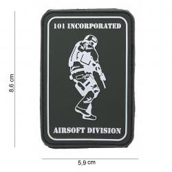 """Patch 3D PVC """"101 Inc airsoft division"""" avec velcro, 101 Inc"""