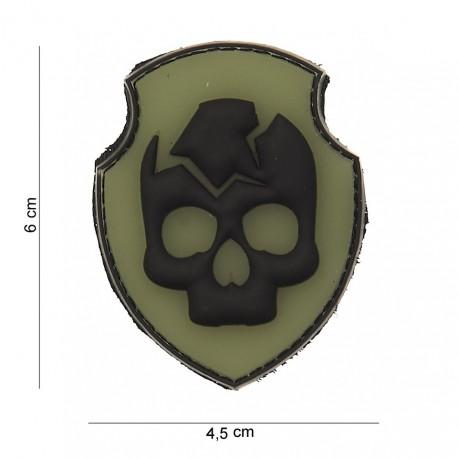 "Patch 3D PVC ""Ghost Skull"" avec velcro, 101 Inc"