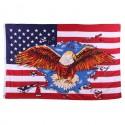 """Drapeau """"USA avec aigle"""", 101 Inc"""