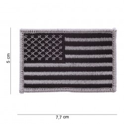 """Patch tissus """"USA"""" silver, 101 Inc"""