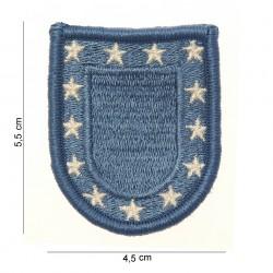 """Patch tissus """"US baret flash"""" bleu, 101 Inc"""