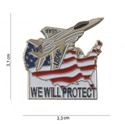 "Badge ""We will protect"", 101 Inc"