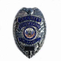 """Badge """"Security enforcement"""" silver, 101 Inc"""