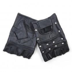 Mitaines cuir cloutées noir, 101 Inc
