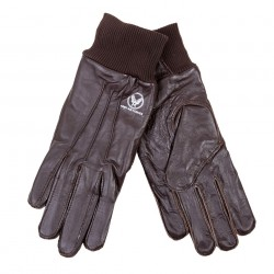 """Gants """"Air Force"""" en cuir brun, 101 Inc"""