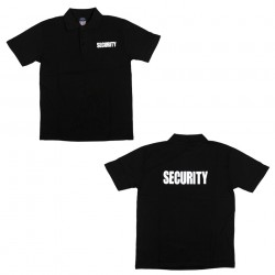 "Polo manches courtes ""Security"" noir, 101 Inc"
