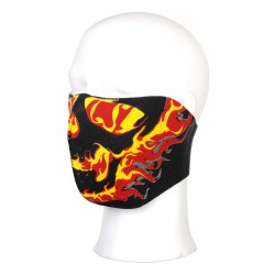 Masque néoprène demi flammes rouges et jaunes | 101 Inc