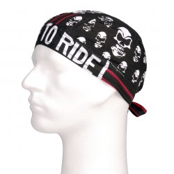 "Bandana ""Skull red stripe"" 