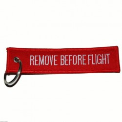 "Porte-clés ""Remove before flight"" 