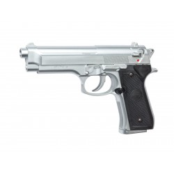Réplique airsoft M92 FS chrome, ressort | ASG