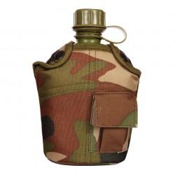 Gourde en plastique avec housse camouflage woodland | 101 Inc