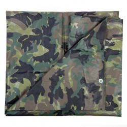 Bâche camouflage woodland 3,8 x 5 m | 101 Inc