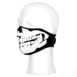 Masque néoprène demi skull 3D noir | 101 Inc