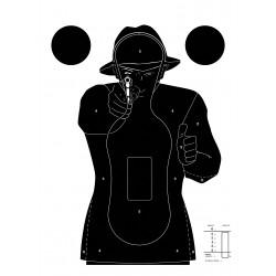 Cible silhouette noire, par 100 | Europ-Arm