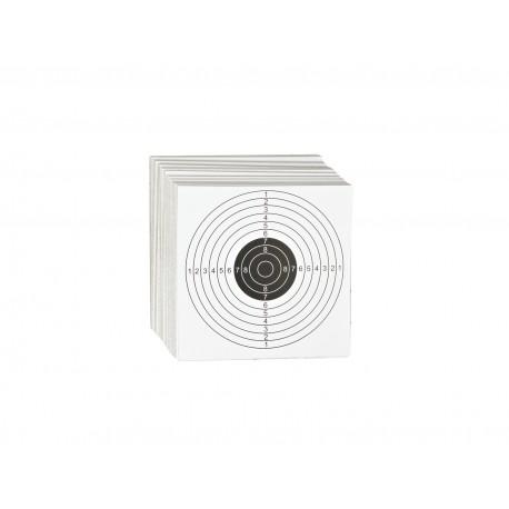 Cible cartonné 14 x 14 cm, par 100 | ASG