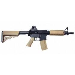 Réplique airsoft Colt M4 A1 CQB noir et tan, électrique non blow back   Cybergun