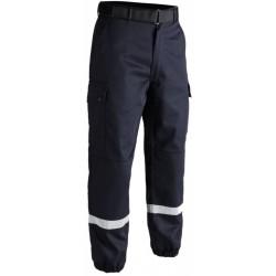 Pantalon F2 avec bandes rétro-réfléchissantes bleu | T.O.E