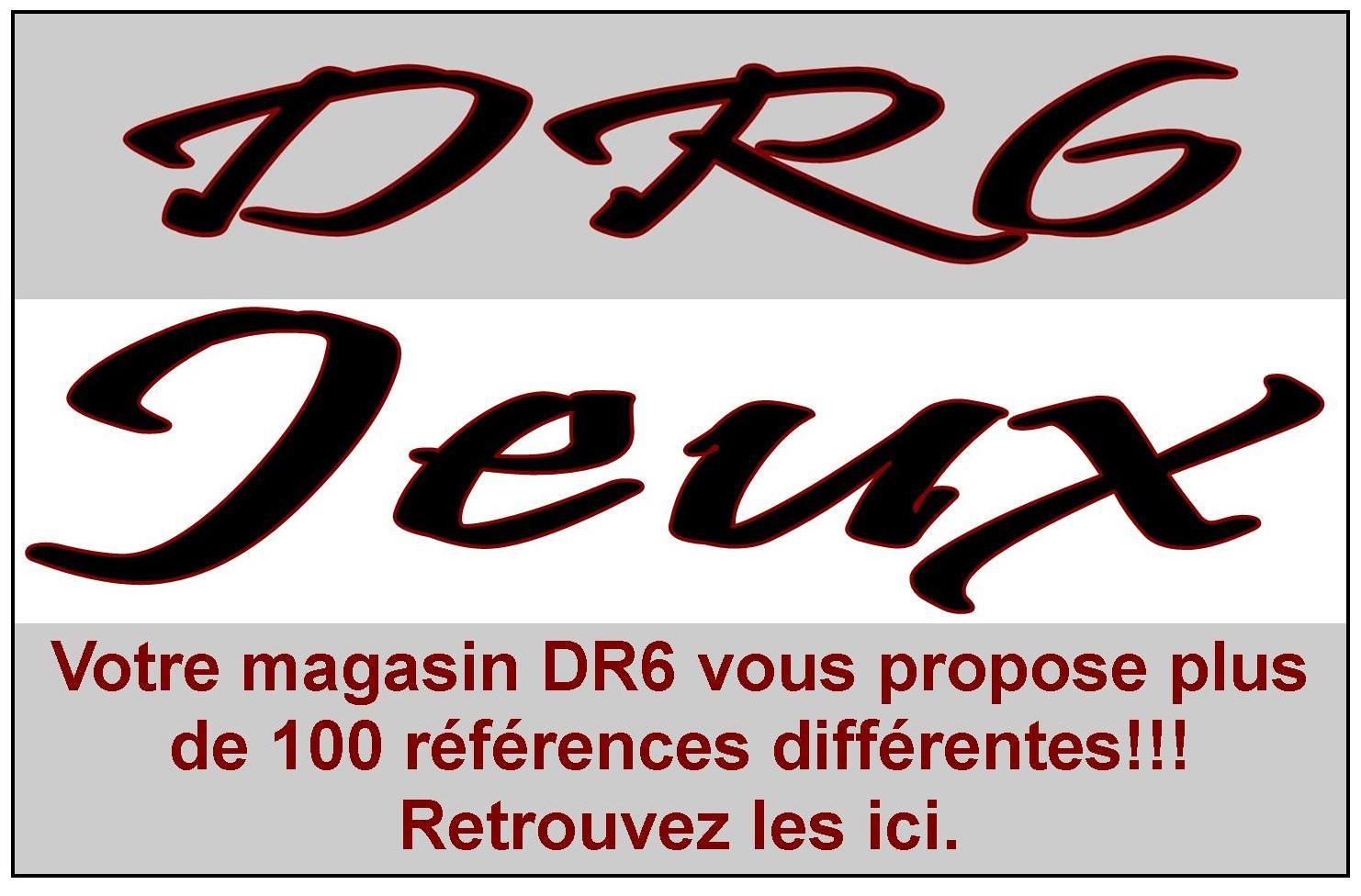 Votre magasin DR6 vous propose plus de 100 références dans sa gamme jeux.